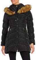 Laundry by Shelli Segal Faux Fur-Trimmed Down Puffer Coat