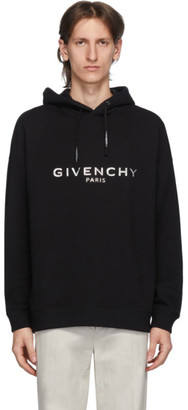 Givenchy Black Embossed Logo Hoodie