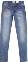 Mayoral Junior Girl's Denim Pants with Metal Studs Applique, Sizes 8