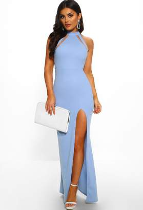 Pink Boutique Miss Congeniality Powder Blue Cut Out Maxi Dress