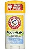 Arm & Hammer Essentials Natural Deodorant, Unscented 2.5oz (Pack of 18)