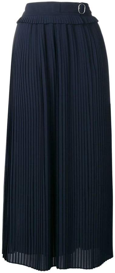 Golden Goose belted pleated skirt