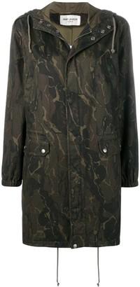 Saint Laurent camouflage parka