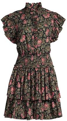 La Vie Rebecca Taylor Chouette Floral Mini Dress
