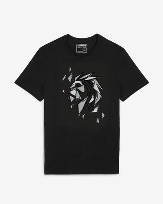 Express Black Lion Graphic T-Shirt