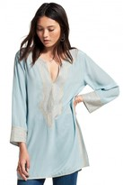 Calypso St. Barth Sythia Embroidered Silk Tunic