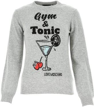 Love Moschino Gym & Tonic Intarsia Sweater