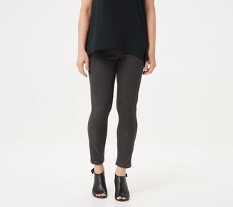 H by Halston Petite Knit Denim Slim-Leg Crop Pants with Pintuck Details