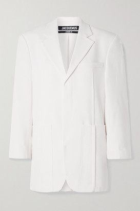 Jacquemus Oversized Wool-blend Blazer - White