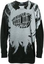 Ann Demeulemeester cobweb print sweatshirt - men - Cotton - S