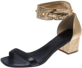 Alexander McQueen Two Tone Leather Ankle Strap Sandals Size 39.5
