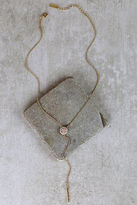 LuLu*s Infinite Inspiration Gold and Pink Drop Necklace