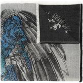 Alexander McQueen star peacock jacquard scarf