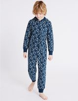 Marks and Spencer Pure Cotton Printed Onesie (1-16 Years)