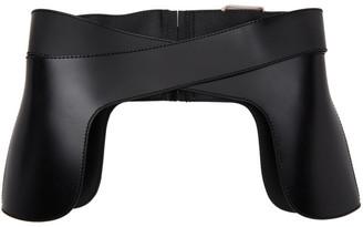 Alexander McQueen Black Leather Corset Belt
