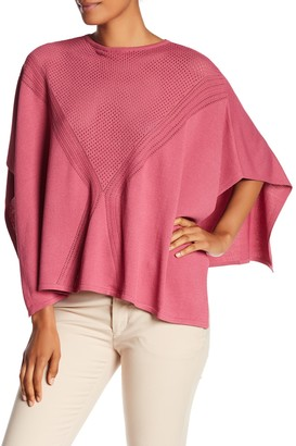 DOLCE CABO Perforated Knit Poncho