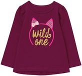 Gymboree Purple 'Wild One' Sequin-Accent Graphic Tee - Infant & Toddler