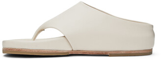 LAUREN MANOOGIAN Off-White Tri Slide Sandals