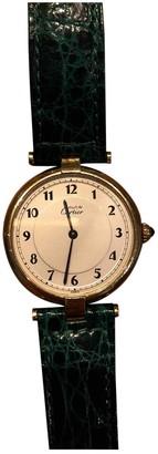 Cartier Must 21 Green Silver Gilt Watches
