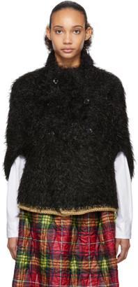 Comme des Garcons Black Faux-Fur Hand-Knit Cardigan