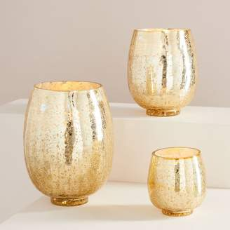 west elm Crackle Jar Candles - Winter White