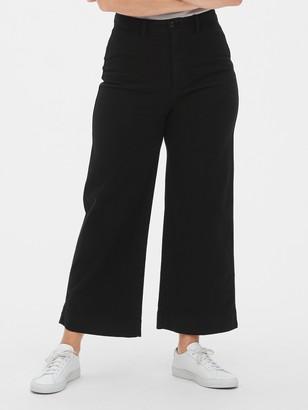 Gap High Rise Wide-Leg Crop Chino Pants