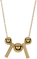Rebecca Minkoff Bead and Bar Pendant Necklace
