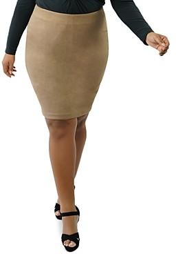 Marée Pour Toi Plus Fitted Faux-Suede Skirt
