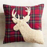 Pier 1 Imports Sherpa Reindeer Tartan Plaid Pillow