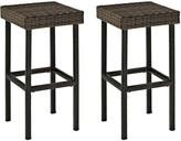 Crosley Furniture Palm Harbor Patio Wicker Bar Stool 2-piece Set