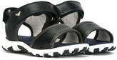 Armani Junior embossed logo strap sandals - kids - Cotton/Leather/rubber - 20