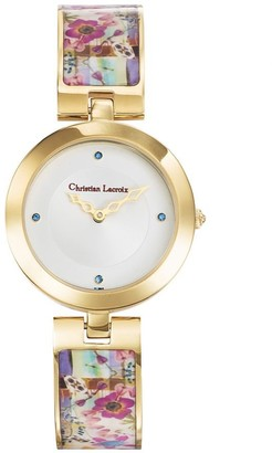 Christian Lacroix Womens Analogue Quartz Watch with Stainless Steel Strap CLWE27