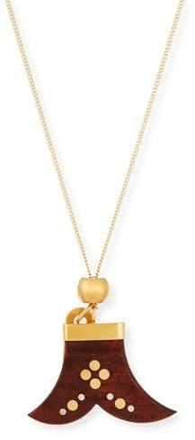 Chloé Janis Wooden Pendant Necklace