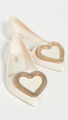 Melissa Pointy Heart Flats