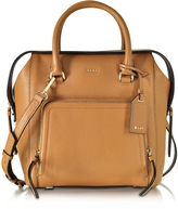 DKNY Chelsea Vintage Style Copper Leather North/South Satchel Bag