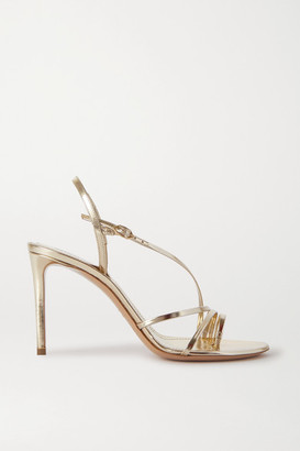 Nicholas Kirkwood Elements Metallic Leather Slingback Sandals - Gold