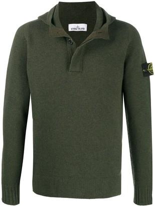Stone Island Polo-Collar Knit Jumper