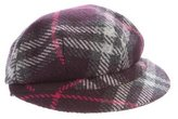 Burberry Wool Check Newsboy Hat