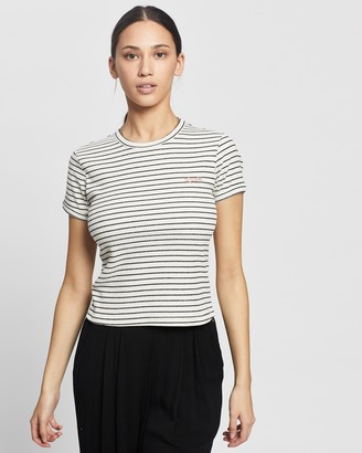Rusty Women's White Basic T-Shirts - Poppet Ringer Tee - Size One Size, 8 at The Iconic