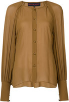Martin Grant balloon sleeve shirt - women - Silk - 36