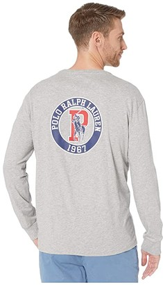 Polo Ralph Lauren Classic Fit Graphic T-Shirt (Grey Heather) Men's Clothing