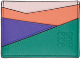 Loewe Green and Pink Puzzle Card Holder