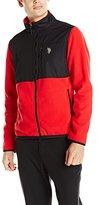 U.S. Polo Assn. Men's Polar Fleece Mock Neck Jacket