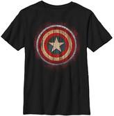 Fifth Sun Men's Tee Shirts BLACK - Black Captain America Wooden Shield Tee - Men