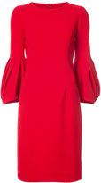 Carolina Herrera pleated full sleeve dress