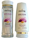 Pantene Sheer Volume Weightless Bundle: Shampoo and Conditioner 12.6 Fl Oz