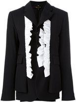 Comme des Garcons ruffled blazer - women - Cotton/Wool/Cupro - M