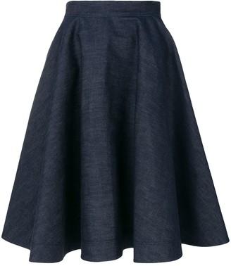 Calvin Klein Flared Denim Skirt