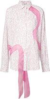 Natasha Zinko floral ribbon shirt - women - Cotton - 34