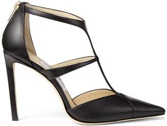 Jimmy Choo Strappy Leather Stiletto Heels